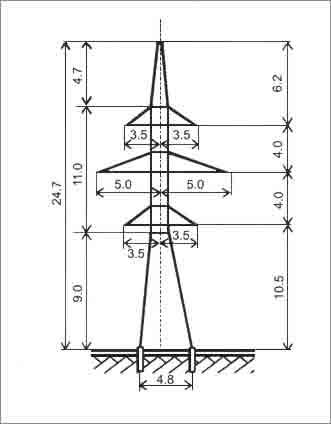 У110-2П анкерная опора