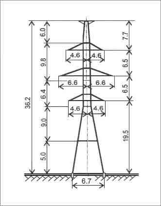 У220-2Т+5 анкерная опора