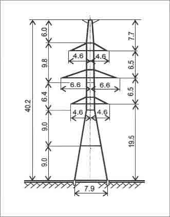 У220-2Т+9 анкерная опора