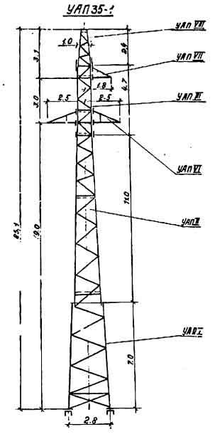 УАП35-1 промежуточная опора