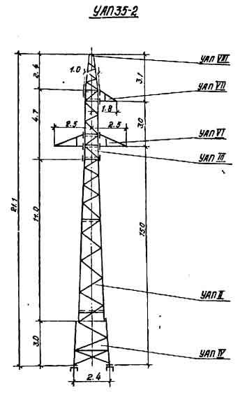 УАП35-2 промежуточная опора