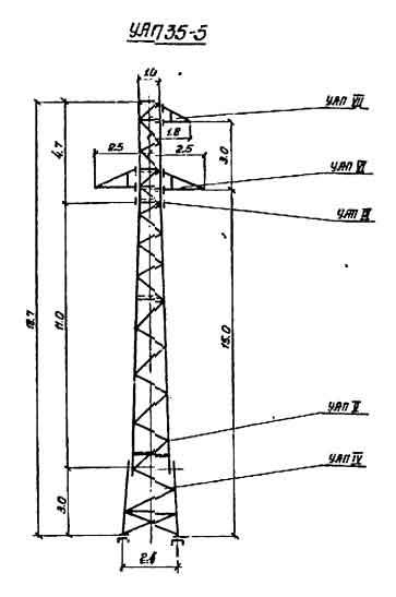 УАП35-5 промежуточная опора