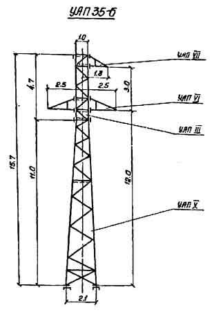 УАП35-6 промежуточная опора