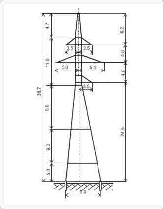 УС110-7+14 анкерная опора