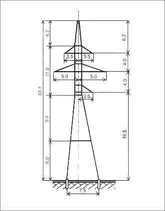 УС110-7+9 анкерная опора